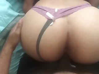 Big Ass Asian nurse loves bouncing on Black Dick