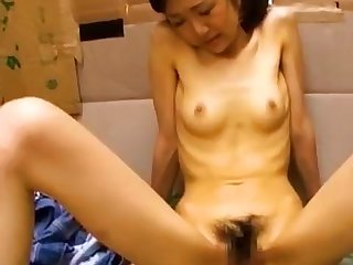Anorexic - Hatsuki Mio fucked in her cardboard box house