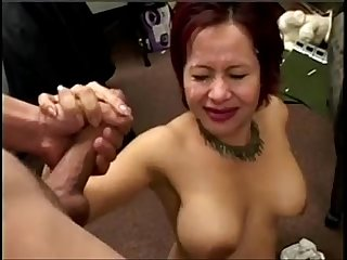 Asian Gives Blowjob gets Cum in Her Eye XHDBANG.CLUB