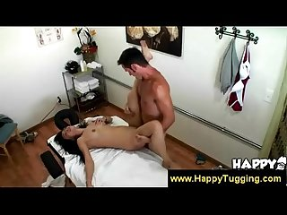 Asian chick banged in massage parlor